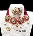 CL Jewellery Onex Beads Kundan Meenakari Customised Costume Fashion Necklace
