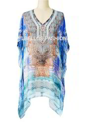 Digital Printed Embellished Kaftan
