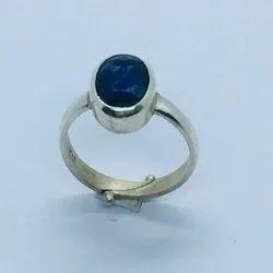 Astrology Sterling Sapphire Neelam Ring