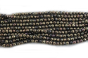 Black Spinel Coated Faceted Stone Beads