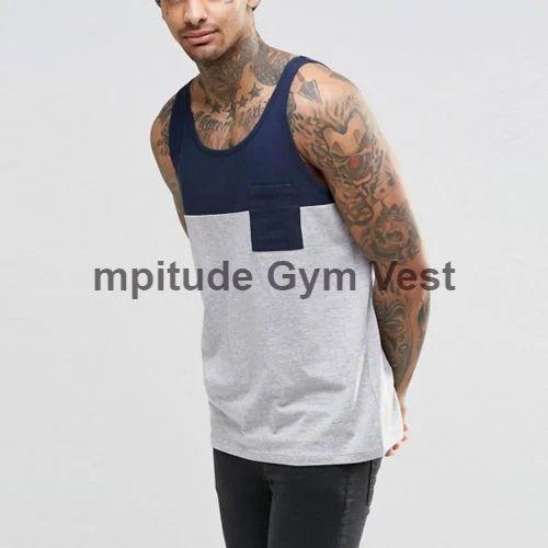 53e4b769cceb77 Mpitude Cotton mens gym vest two tone gym stringer tank sports vest  bodybuilding vest
