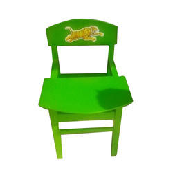Green Kids Wooden Chairs With Writing Pad
