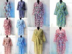 Block Printed Kimono Robe