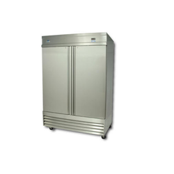 La Decor Stainless Steel Two Door Refrigerator
