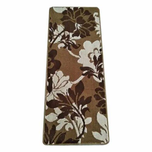 Rectangular Polyester Designer Floor Carpet, Size: 23' X55 inch