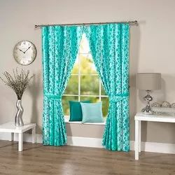 Dotted Firozi Curtain