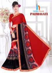 Padmavati Printed Border Less Saree