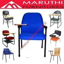 Blue PVC Student Writing Pad Training Chair