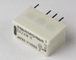 Low Signal Relay BA24W-K Takamisawa / G6K-2F-Y-TR-DC24 Omron
