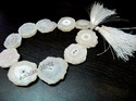 Natural White Solar Quartz Beads