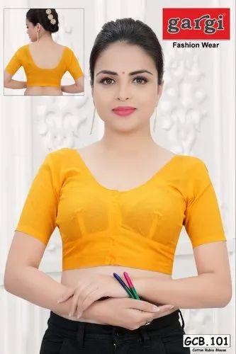 0fa2de542ad4d3 Cotton Blouse - Gargi Presents 100% Cotton Rubia Blouse - More Than 15  Colours