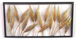 Iron Leaves Frame for Wall Decor, Size: 36x1x18