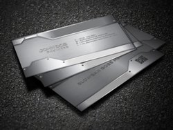 Metallic Card Front & Back