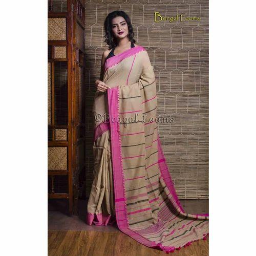 b5f539d8d4 Khadi Sarees - Pure Handloom Khadi Soft Cotton Silk Saree in Navy ...