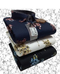 Black Cotton Collar Neck Mens Shirts, Packaging Type: Box