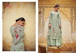 Kimora Heer Vol 54 Georgette 9701-9708 Series Lucknowi Work Suit Collection