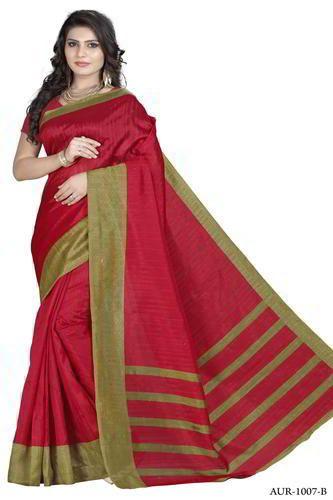a94c65a2504 Silk Red Bhagalpuri Saree For Women