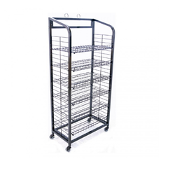 Metal Brown & Black 4 Shelves Alligator Display Rack