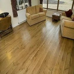 Brown Solid Wooden Flooring, Finish Type: Matte, Thickness: 18 Mm