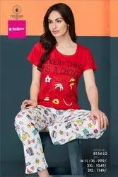 Female Red NIGHTSUIT 8154