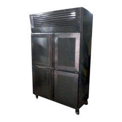 Stainless Steel Electricity SS Four Door Vertical Refrigerator, for Commercial, Capacity (in Liters): 600 Ltrs