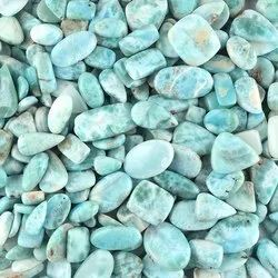 AAA Natural Larimar Cabochons Cut Assortment loose Crystal Gemstone for Jewelry Making