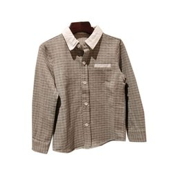 Cotton Checks Kids Party Wear Shirt