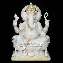 BM Art Marble Ganesha Statue