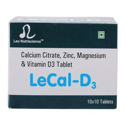 Leo Nutriscience Calcium Tablet, 10 x 10
