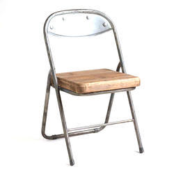 grey Folding Cast Iron Chair, For Hotel