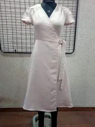 Ladies Italian Satin Wrap Dress