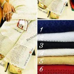 Woman Cotton Full Chikan Palazzo