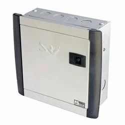 Mild Steel (MS) Double Door 6 Way SRV MCB Distribution Board for Electric Fittings