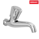 Stainless Steel Silver Somany Dhaara Long Nose Bib Cock Without Flange
