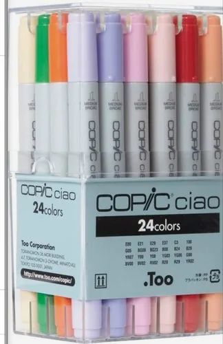 24 Colors Copic Markers