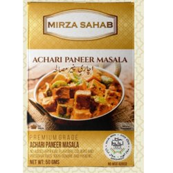 Mirza Sahab Achari Paneer Masala, Packaging Size: 50 G, Packaging Type: Box