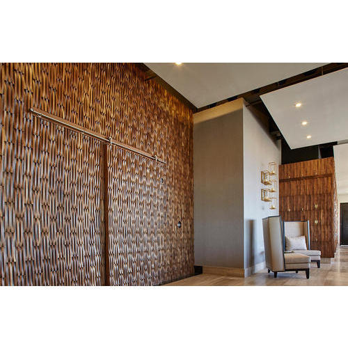 Brown Brick Design Wooden Wall Coverings For Wall Decor Rs 350 Square Feet Id 20431060073