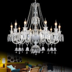 White Fluorescent Bulb Decorative Glass Hanging Chandeliers