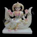 White Marble Brahmani Devi Statue
