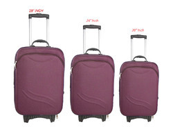 20 24 28 Inches Purple Trolley Bags