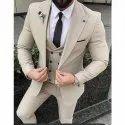Men Designer Beige Suit