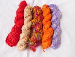 Banana Silk Yarns in Assorted Colors, Suitable for Yarn Stores
