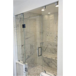 Hinged Plain Shower Cubicle Glass Door