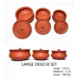 Terracotta Large Degchi Set  sc 1 st  IndiaMART & Terracotta Dinner Set at Rs 450 /set | Terracotta Ke Rasoi Ke Bartan ...