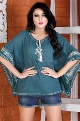 Ladies Cotton Embroidery Top