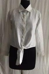 Tie Linen shirt