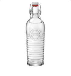 Bormioli Rocco Clear officina metallic bottle