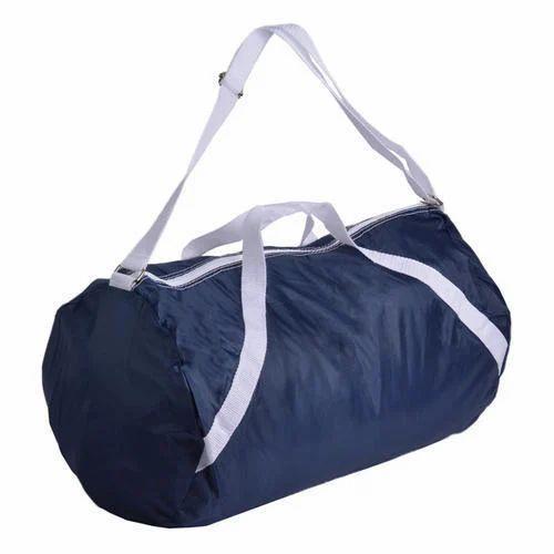 18a6f94b7ce Duffle Bags Navy Blue Sports Duffle Bag, Pelican Polyplast   ID ...
