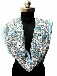 Vinayak Handicraft Hand Block Printed Cotton Print Stole Indian Soft Cotton Dupatta