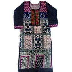 Ladies Modern Cotton Printed Kurti, Size: S, M & L